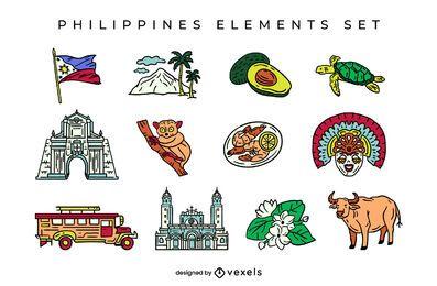Diseño de escenografía de elementos de Filipinas