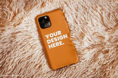 Design de maquete de tapete de capa de telefone