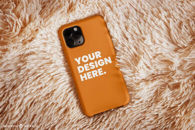 Diseño de maqueta de alfombra de caja de teléfono