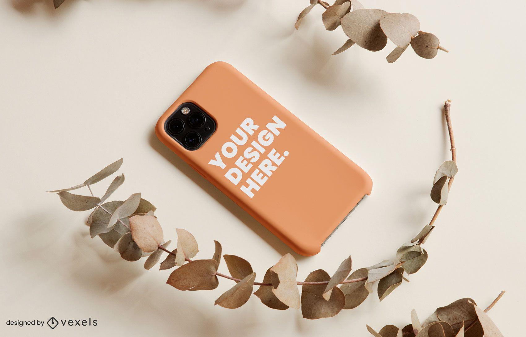 Phone case twig mockup design
