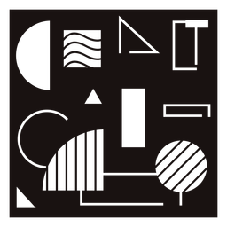 Plantilla de composición de formas abstractas