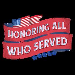 Letras de veteranos da bandeira americana