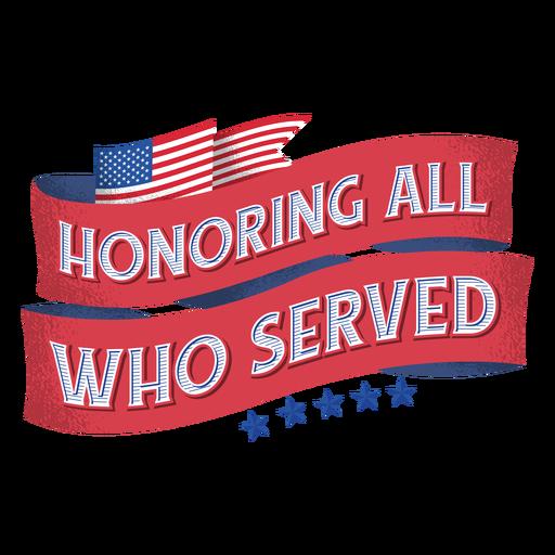 Letras de veteranos de la bandera americana