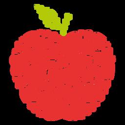 Corazones llenos de manzana