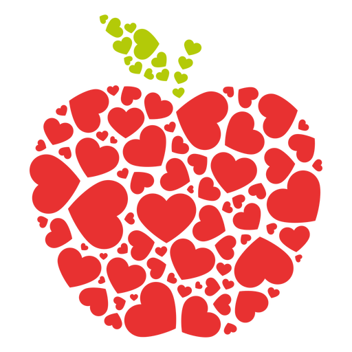 Apple filled hearts