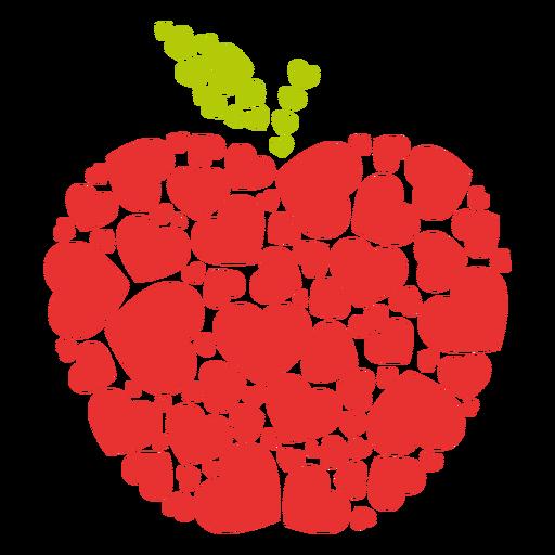 Corações cheios de maçã
