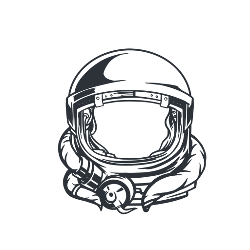 Astronauta capacete logotipo astronauta