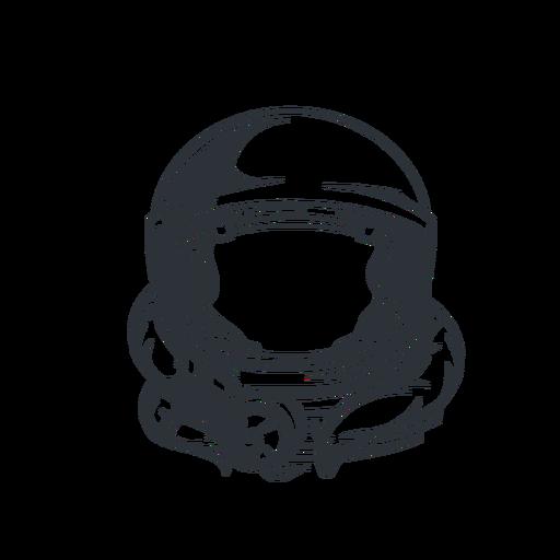 Astronauta casco logo astronauta