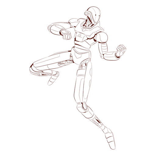 Attack android character Transparent PNG