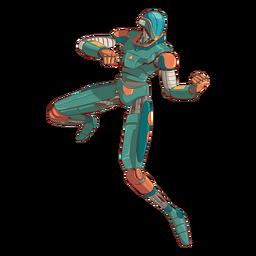 Ataque personagem de ilustração android