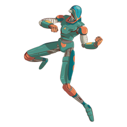 Attack android illustration character