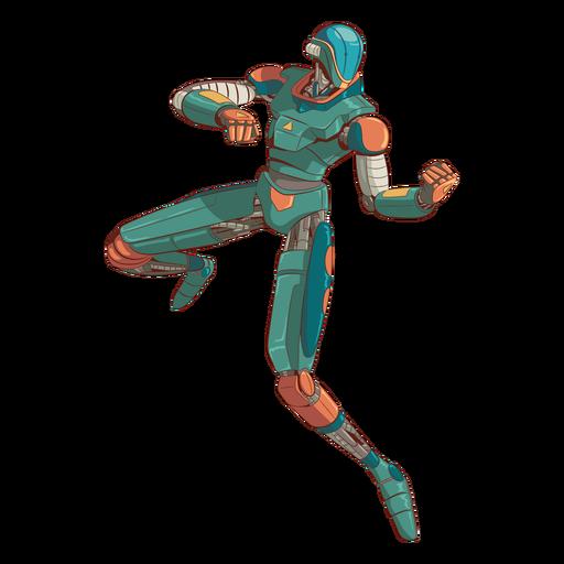 Ataque personaje de ilustración de android