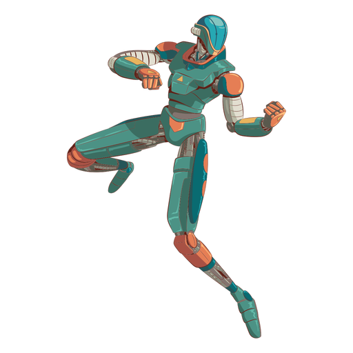 Attack android illustration character Transparent PNG