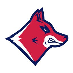 Baring teeth wolf logo