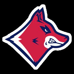 Logotipo do lobo com dentes à mostra