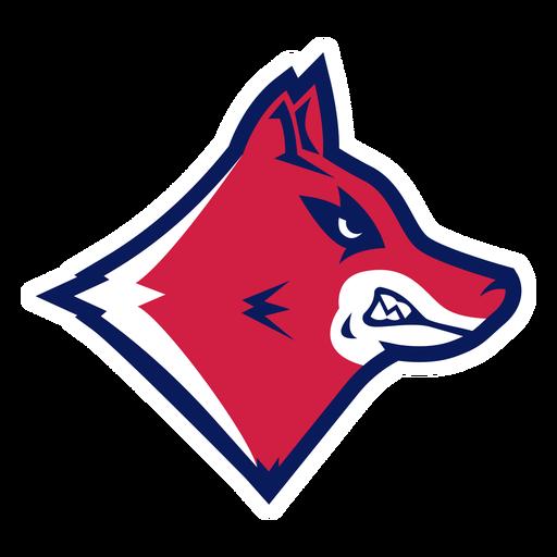 Baring teeth wolf logo