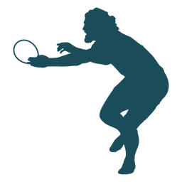 Bearded rugby player silhouette