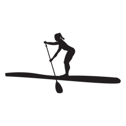 Bending stand up paddleboarding silhouette