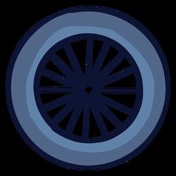 Rueda de bicicleta plana