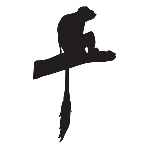 Silueta de colobo blanco y negro