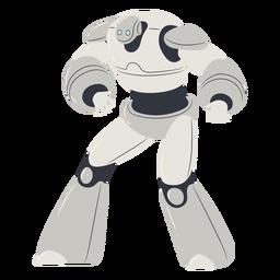 Carácter de cyborg musculoso