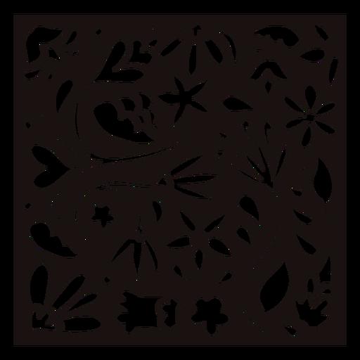 Busy nature composition stencil Transparent PNG
