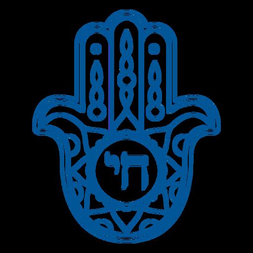 Distintivo de AVC Chai hamsa