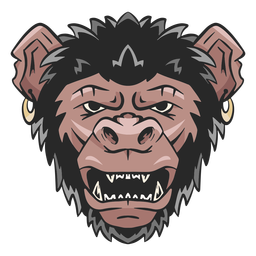 Chimpanzee face illustration