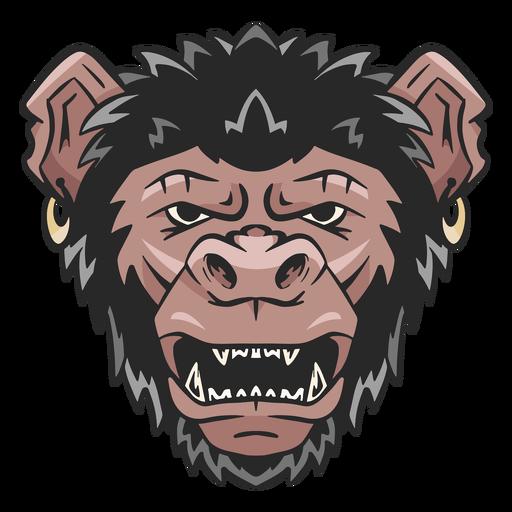 Ilustração de rosto de chimpanzé