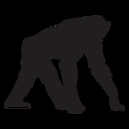 Silueta de mono chimpancé