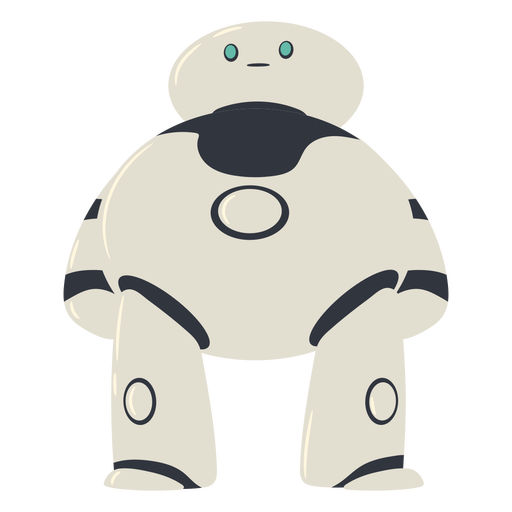 Chubby robot character Transparent PNG