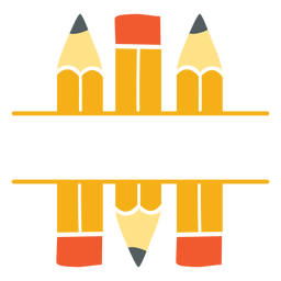 Ícone clássico de divisão de lápis