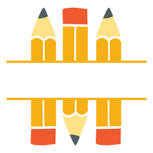 Classic pencils split icon