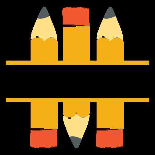 Icono de división de lápices clásicos