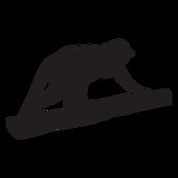 Silueta de mono ardilla común