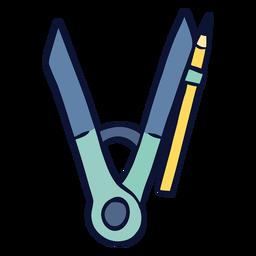 Compass drawing tool flat