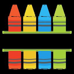 Crayones split icono