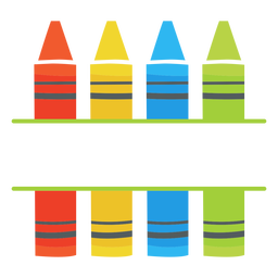 Crayons split icon