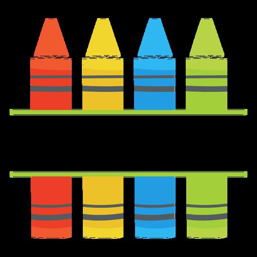 Crayons split icon