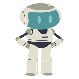 Lindo personaje robot