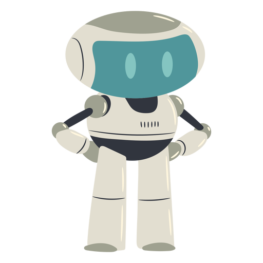 Cute robot character Transparent PNG