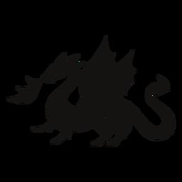 Silueta de fuego de dragón