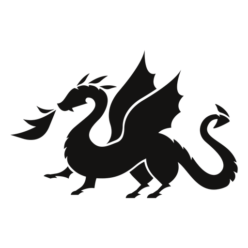 Dragon fire silhouette Transparent PNG