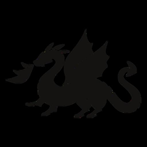 Dragon fire silhouette
