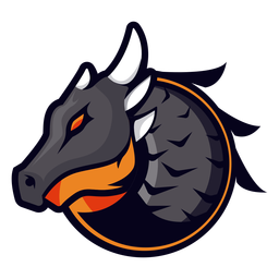 Dragon with horns logo