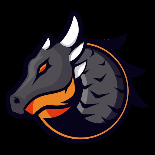 Dragón con logo de cuernos Transparent PNG