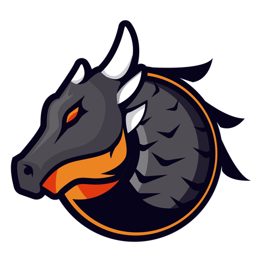 Logotipo do dragão com chifres