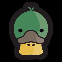 Logotipo da cabeça de pato
