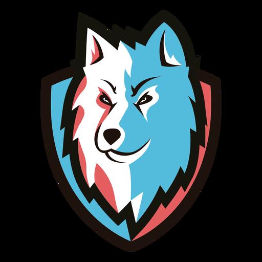 Logotipo de lobo duotono