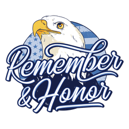Eagle veterans day badge